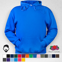 Sudadera capucha hombre fruit of the loom, 14 colores disponibles
